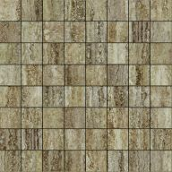 Плитка Италон Travertino Silver Mosaico Lux