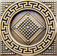 Плитка Absolut Keramika Moneli Decor Tile 02 Shined Brass