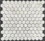 Плитка Colori Viva Statuario Polished Pure White Hexagon