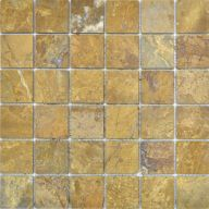 Плитка Colori Viva Travertino Mos.Polished Golden Travertin